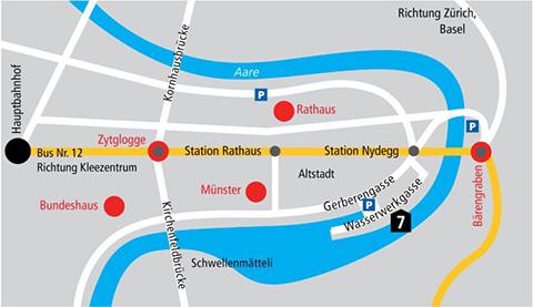 Karte Standort Matte