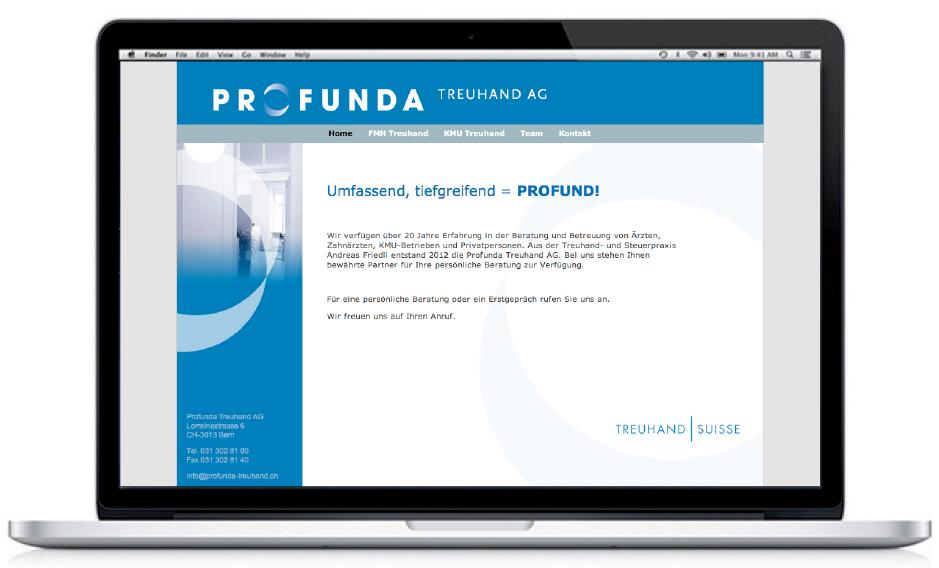 Profunda website