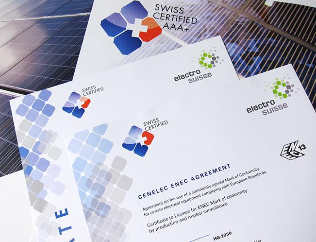 PV label certificate