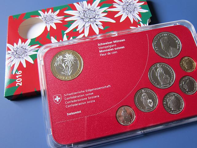 Edelweiss Projekt Schuber mit Münzen