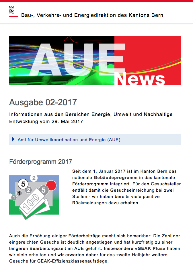 AUE News screenshot